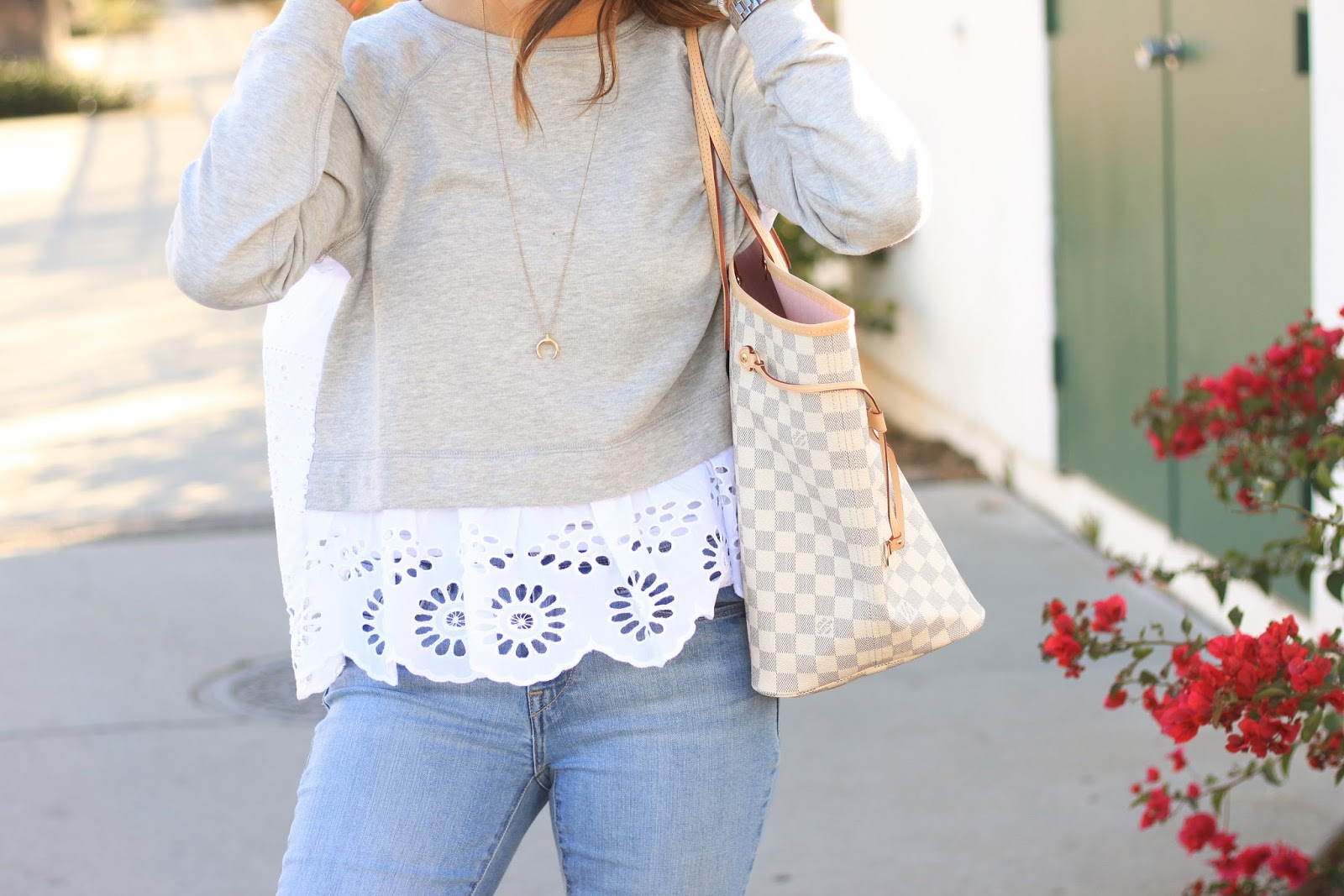 How to dress up a simple sweatshirt for spring and summer