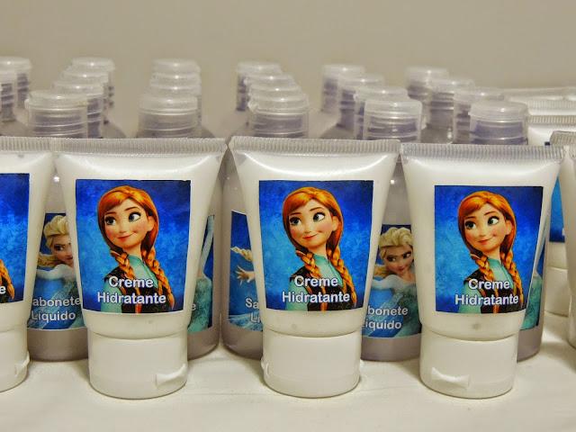 Lembrancinhas Frozen para Festa Infantil hidratante