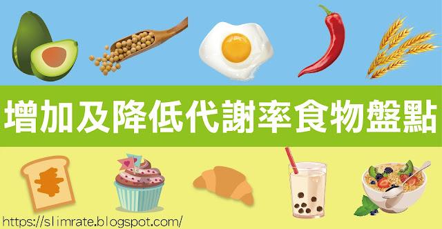 增加及降低代謝率的食物