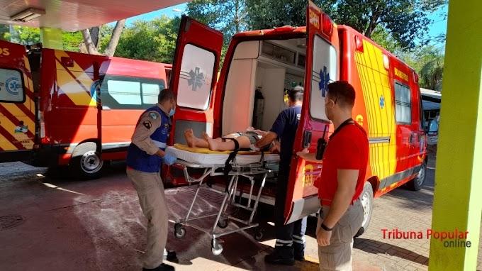 Acidente de trânsito termina com motociclista ferido no Jardim Coopagro em Toledo