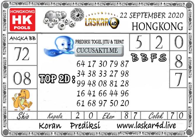 Prediksi Togel HONGKONG LASKAR4D 22 SEPTEMBER 2020