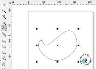 cara membuat kurva bebas di corel draw