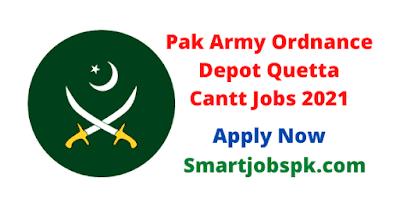 Pakistan Army Ordnance Depot Quetta Cantt Jobs 2021 - Pak Army Ordnance Depot Jobs 2021 - Ordnance Depot Quetta Jobs 2021