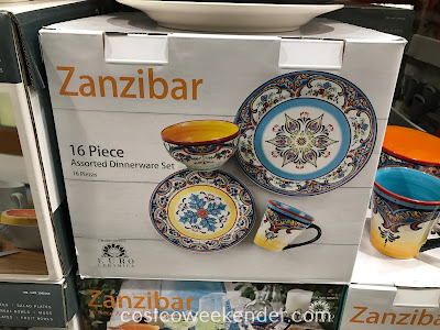 Serve a healthy meal for your family with the Euro Ceramica Zanzibar 16 Piece Dinnerware Set