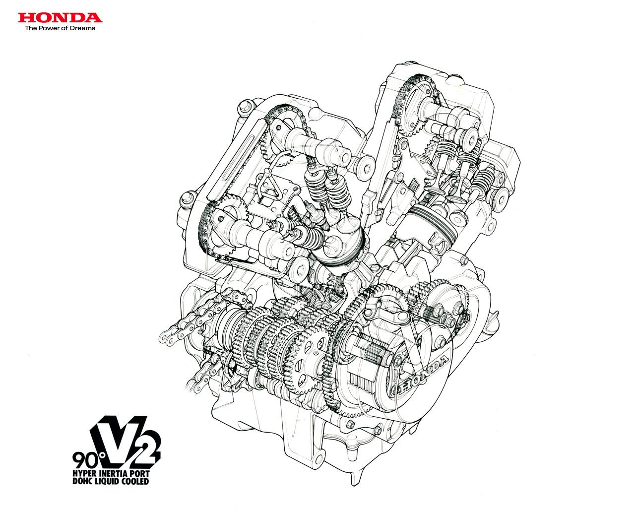 Racing Cafe Honda Vt 250 Cutaway