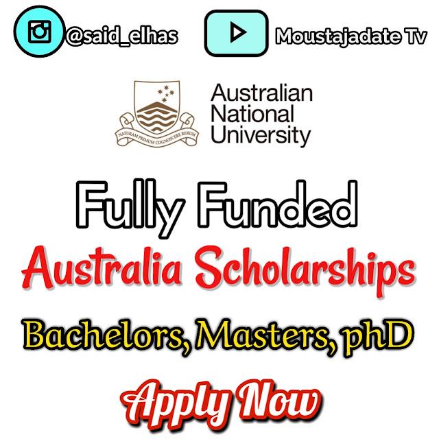ازيد من 800 منحة  2020 ANU  أستراليا | ممول بالكامل | بكالوريوس ، ماجستير ، دكتوراه