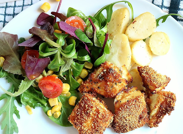 Crispy, healthy, quick, tofu,nuggets, slim, weight loss,