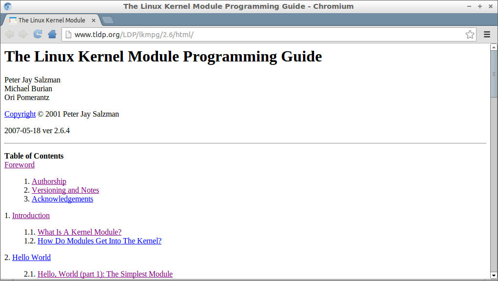 FREE The Linux Kernel Module Programming Guide | Embedded things