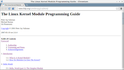 Embedded things: FREE The Linux Kernel Module Programming Guide