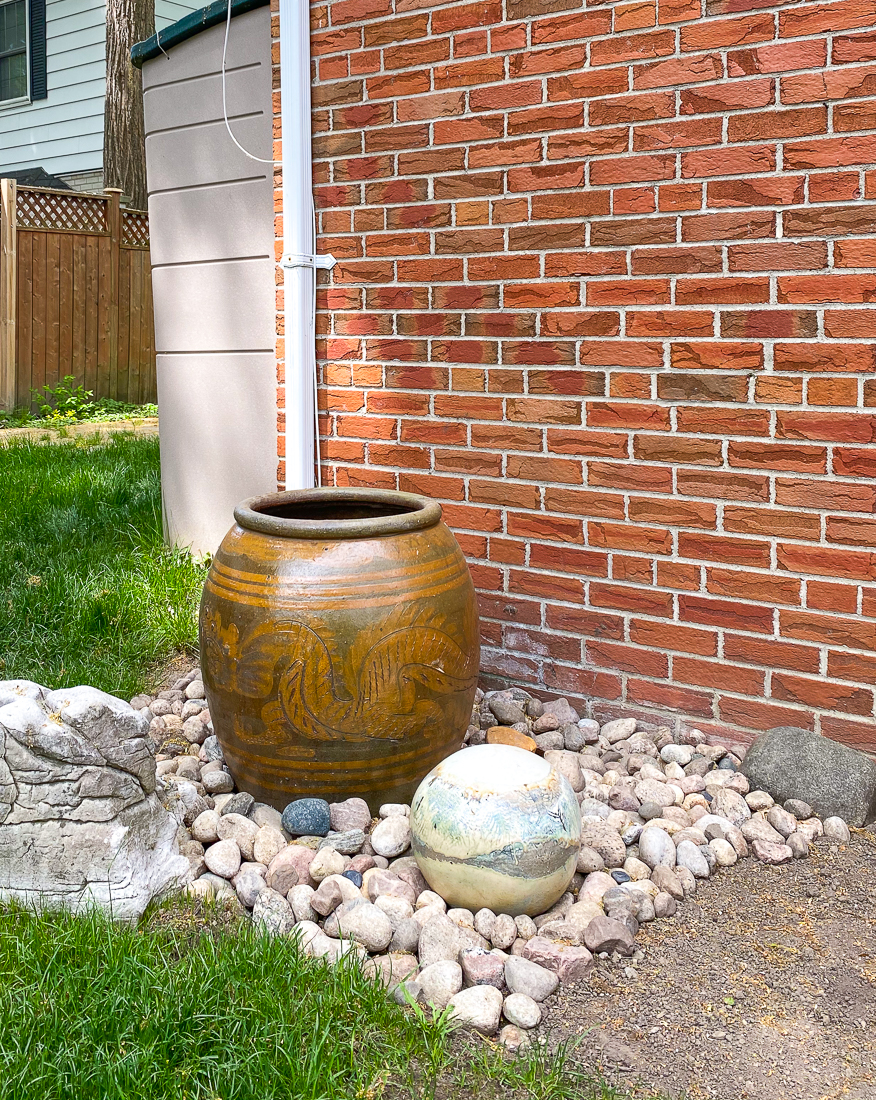 back garden dragon urn, ceramic garden ball