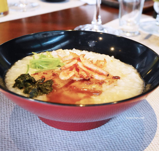 Shokuji - Scallop Porridge Minori Style With Fried Cherry Blossom Prawn