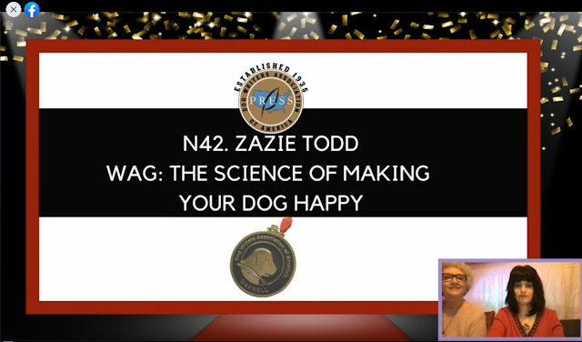 Wag is announced as the winner of a DWAA award.  Companion Animal Psychology News Feb 2021