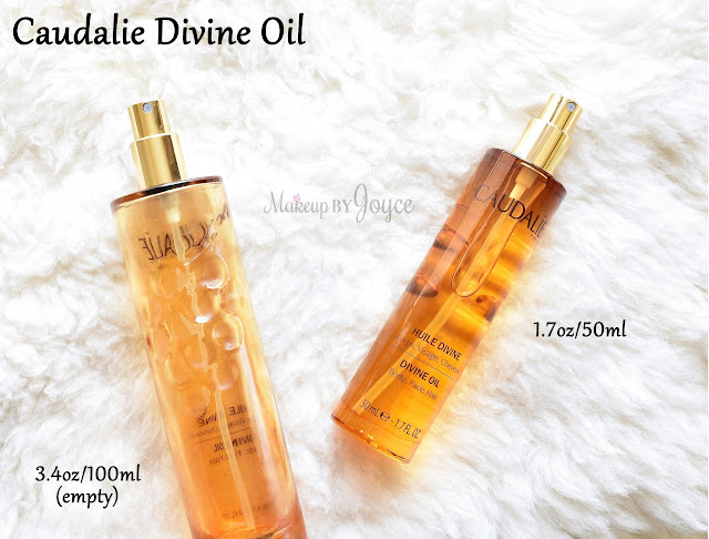 Caudalie Divine Oil Review Size Comparison Packaging Face Hair Body