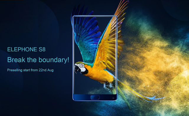 Tri-Bezel-Less Elephone S8 phone released in an awe-inspiring design; Buy online at Gearbest