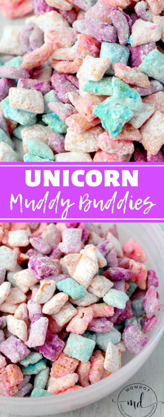 Unicorn Poop Muddy Buddies #desserts #cake #unicorn #pumpkin #snack
