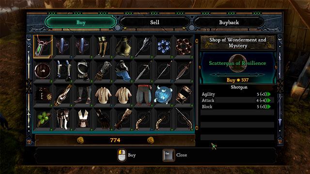 Dungeon Siege III shop screenshot