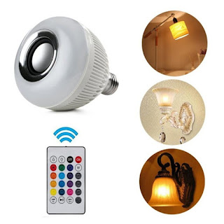 BOHLAM 2 in 1 Speaker Bluetooth Lampu LED Disco RGBW 6w Remote Control