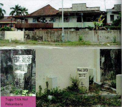 Lokasi Wisata Sejarah Kota Pekanbaru TUGU TITIK NOL KILOMETER