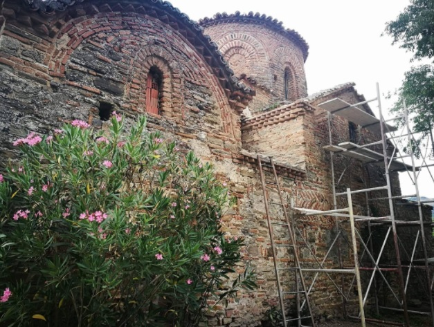St. Mary's Church in Permet is undergoing restoration