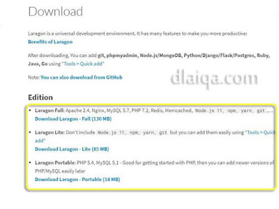 unduh file installer Laragon
