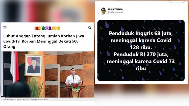 Sindir Luhut dan Ade Armando, Andi Arief: Jangan Sakiti Rakyat, Apalagi Main-main dengan Nyawa!