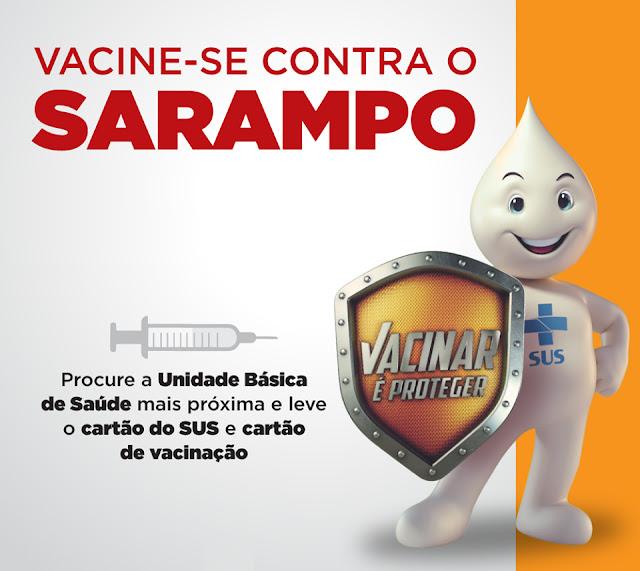 Campanha contra o sarampo vai até o dia 25 em Nova Aliança