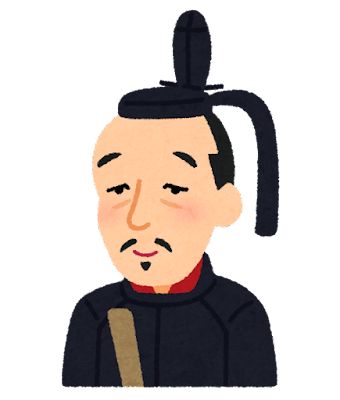 前田利家の似顔絵イラスト