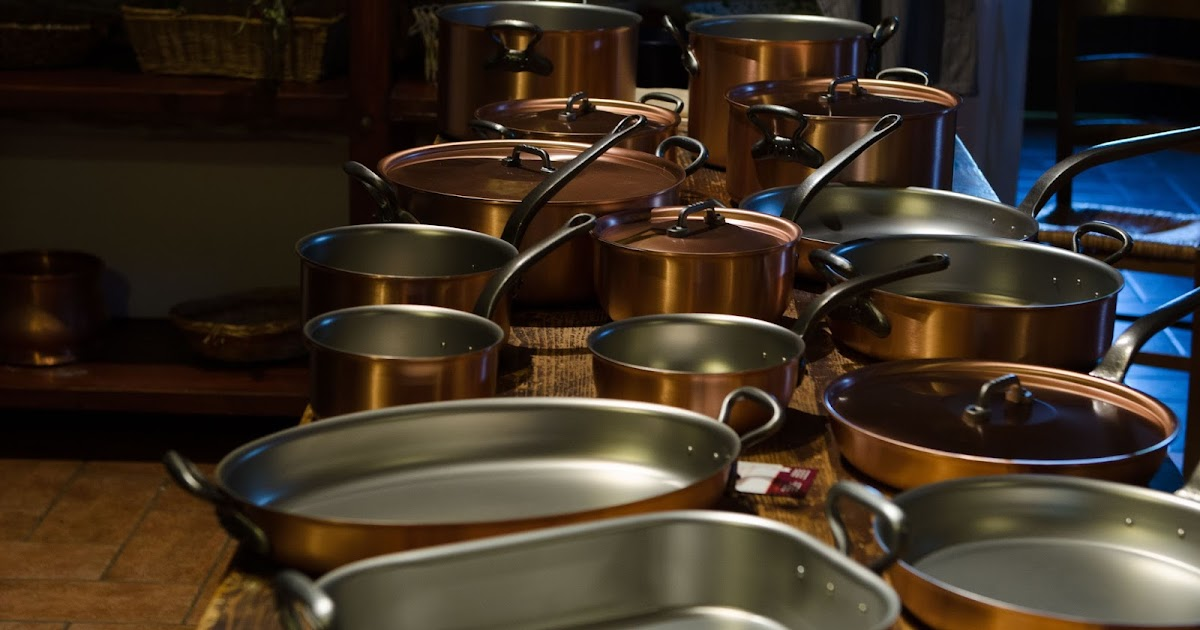 Podcast from Italy: New Copper Cookware for our Cooking Classes