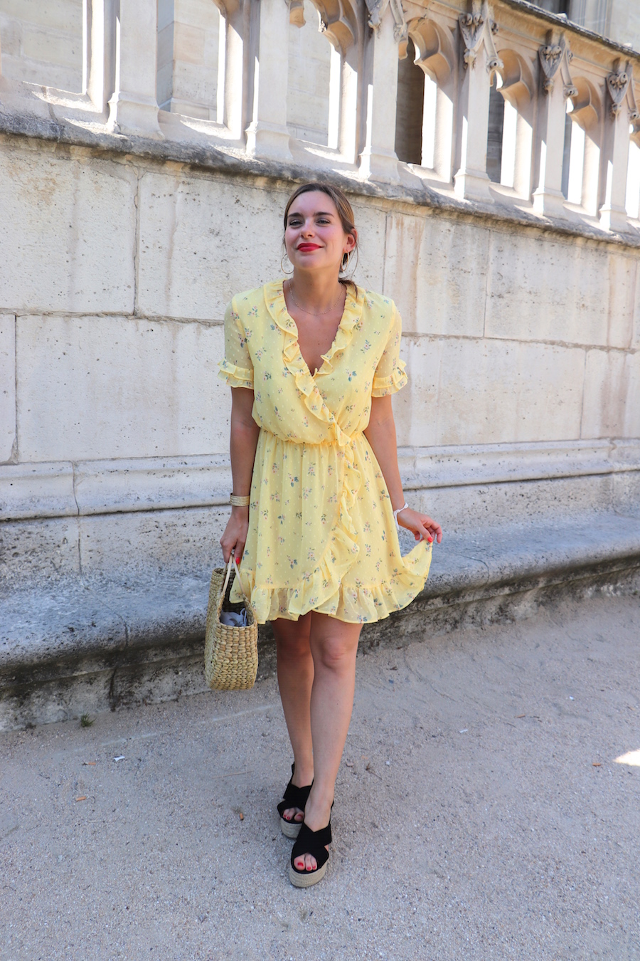 robe jaune fleurie h&m 9