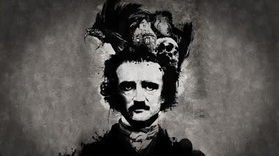 Edgar Allan Poe - Poster con la casa de Usher