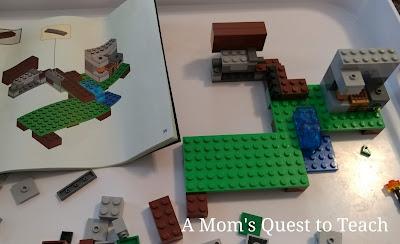 Early steps of Iron Golem Lego Build