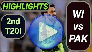 WI vs PAK 2nd T20I 2021