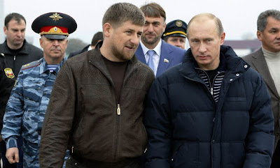 Ramzan Kadyrov, head of the Chechen Republic and Vladimir Putin