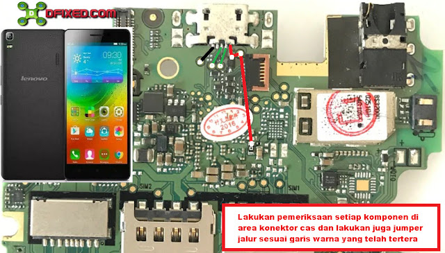 Solusi Lenovo A6000 tidak bisa di cas no charging