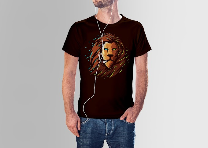 Mr. Lion King T shirt Design