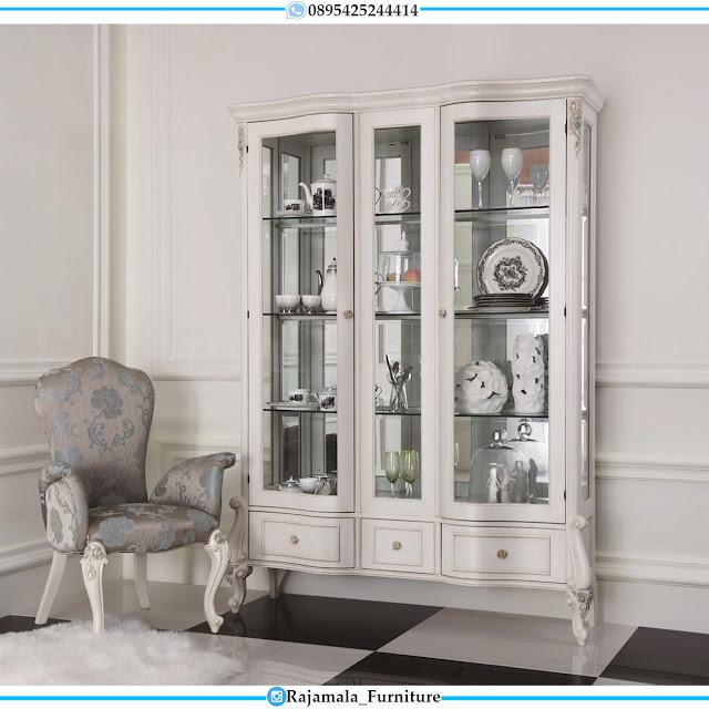 New Lemari Kaca Mewah Desain Interior Living Room RM-0327