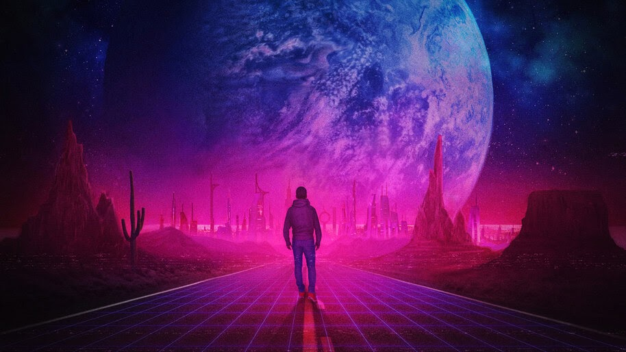 Man, Walking, Digital Art, Planet, 4K, #4.2054