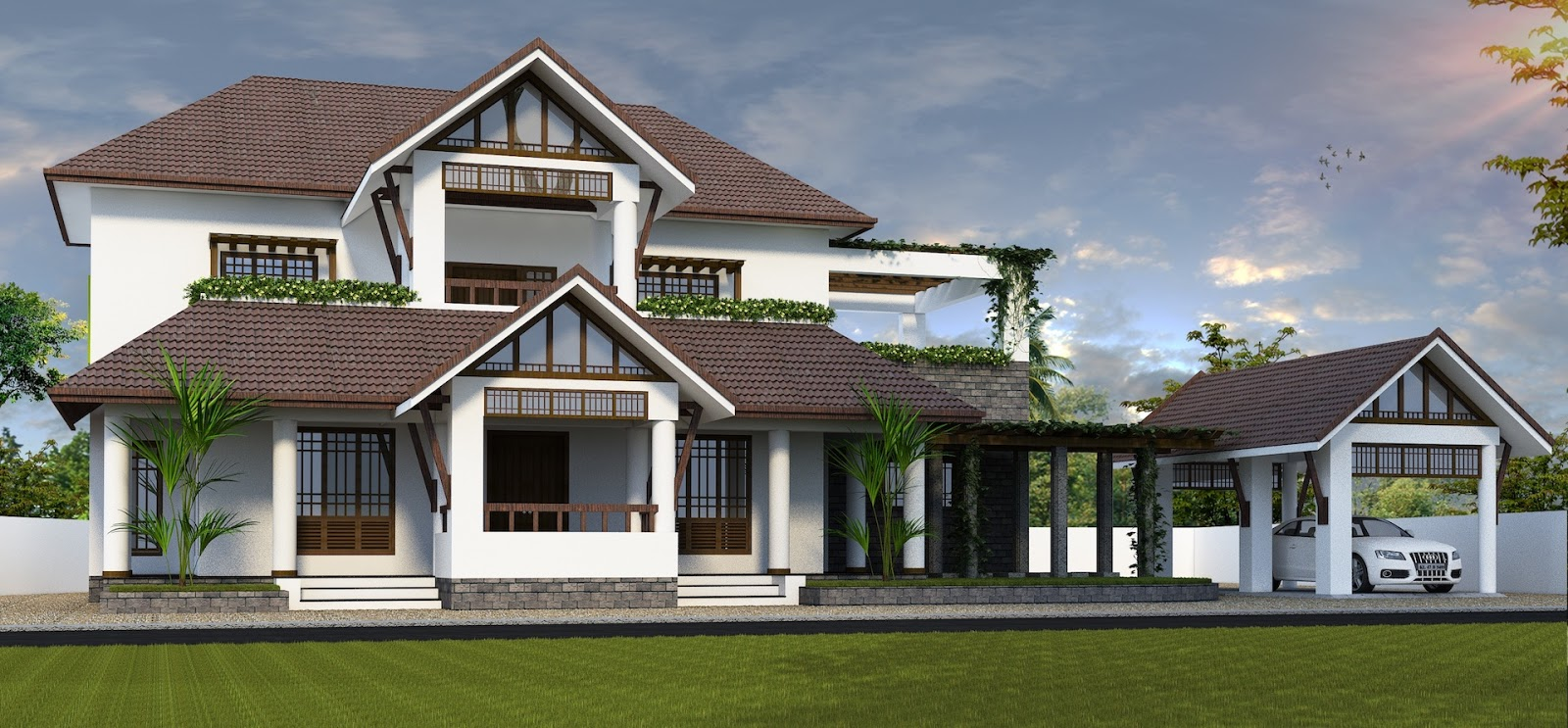 Kerala home design traditional