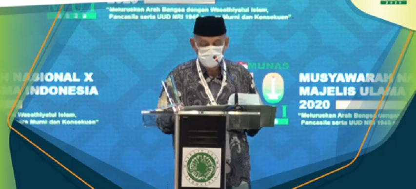 KH. Miftachul Akhyar was elected as General Chair of the MUI for the 2020-2025