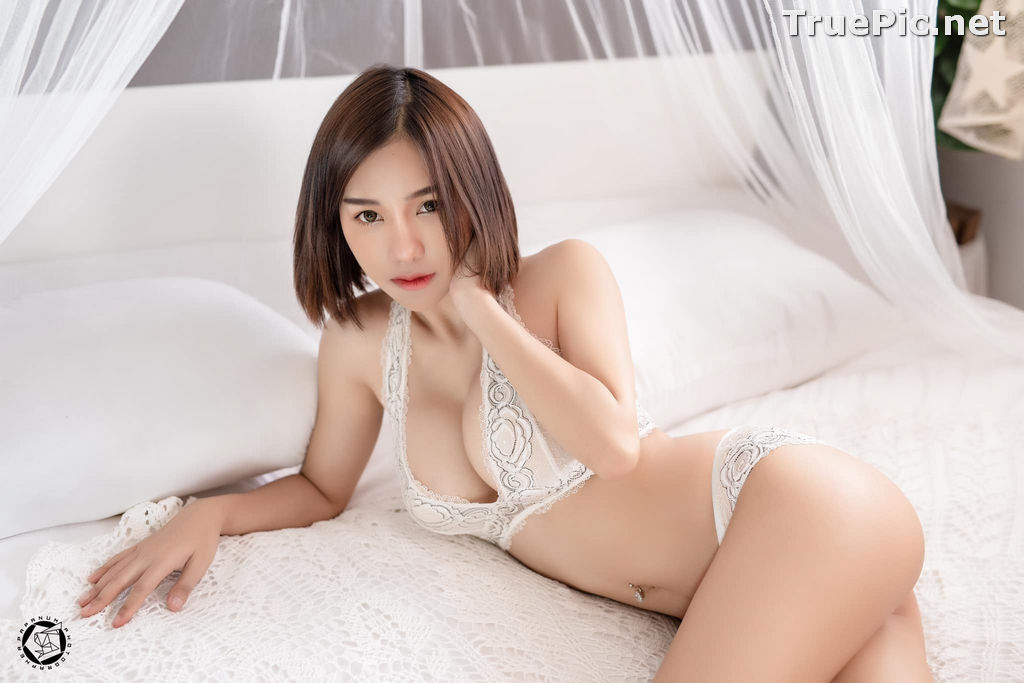 Image Thailand Model - Papoy Kuanpradit - Sexy White Lingerie - TruePic.net - Picture-18