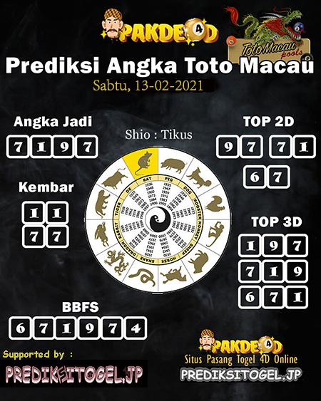 Pakde4D Togel Macao Perkiraan data untuk hari Sabtu