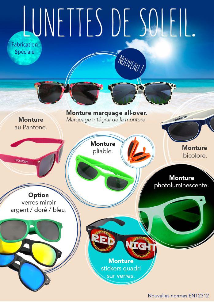Lunettes de soleil publicitaires personnalisée à vos couleurs - Objet  publicitaire original Ricochet Impression cadeau entreprise 7b0d624422e9