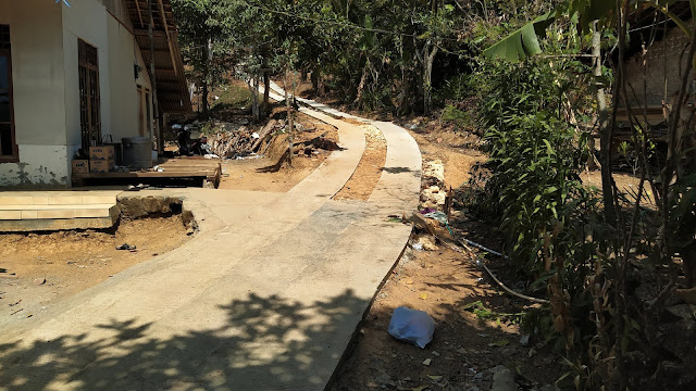 Dusun Purnajaya Bangun Jalan Ke Makam Dari Swadaya Masyarakat