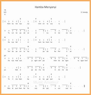 not angka lagu hamba menyanyi lagu wajib