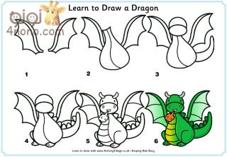 how to draw a dragon