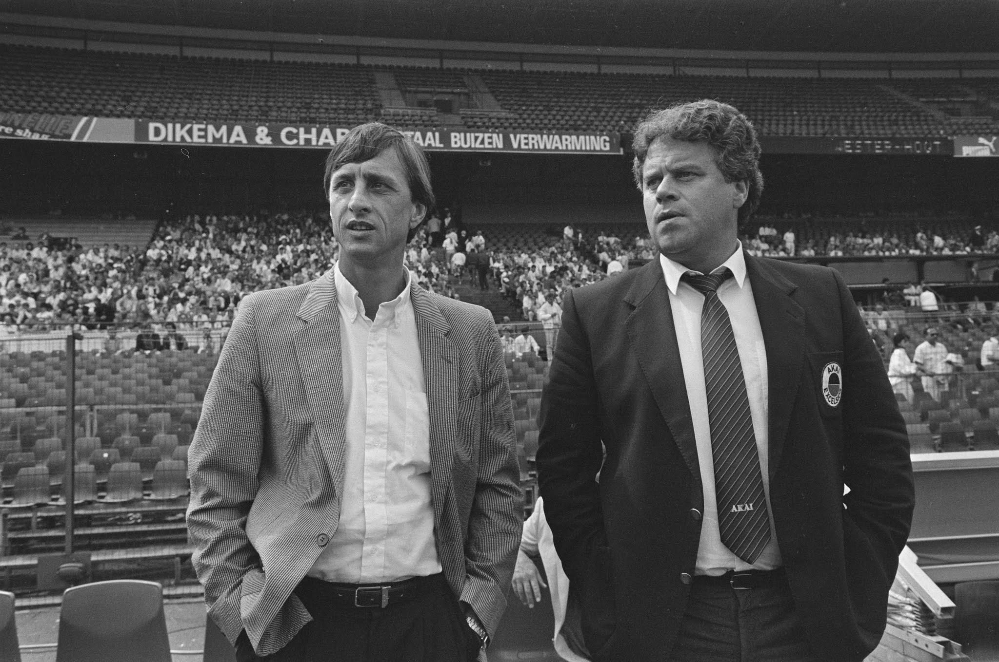 Johan Cruijff en Rob Jacobs