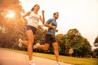 Energetic Couple Jogging