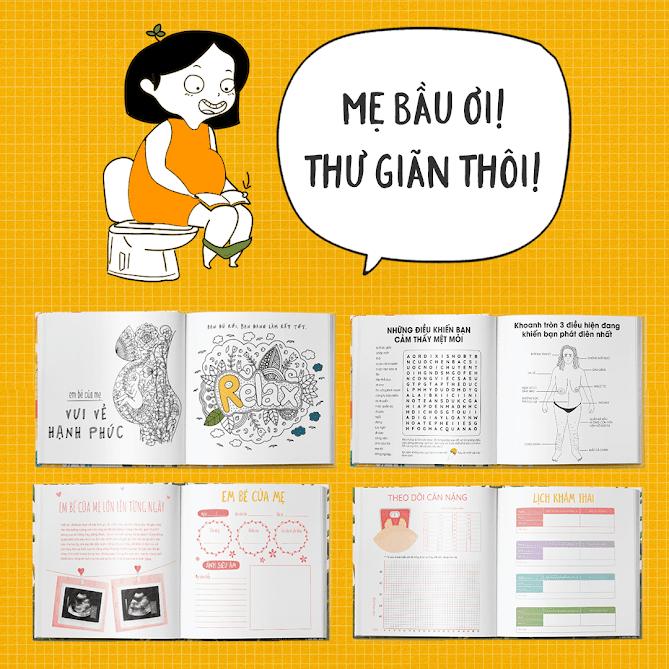 """[A116] Mẹ Bầu Zui: Cuốn sách giúp Mẹ Bầu """"đánh bay"""" stress"""