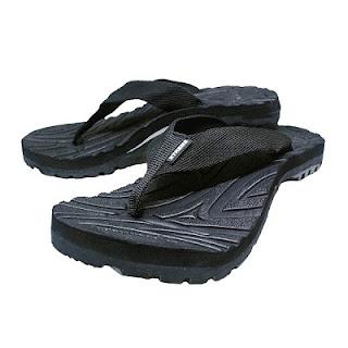 sandal japit pria warna hitam black