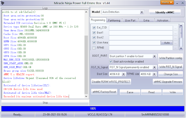 Free Download Miracle Ninja eMMC Box Version 1.45